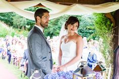 Bride and groom under the gazebo in Fernhill House Hotel Stunning Summer, Absolutely Stunning, Beautiful, Hotel Wedding, Summer Wedding, Gazebo, Strapless Dress, Groom, Weddings