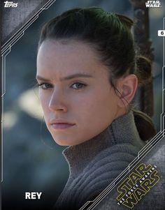 Topps Star Wars Episode VII: The Force Awakens Digital Portraits Trader White - Rey. Anyway, awsome shot of Daisy's face...
