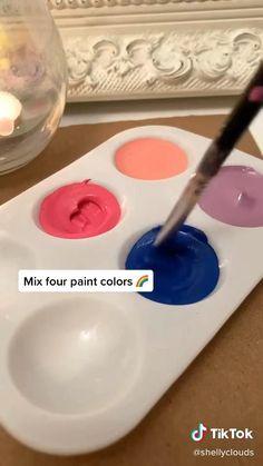 Easy Canvas Art, Simple Canvas Paintings, Mini Canvas Art, Diy Canvas, Acrylic Paintings, Art Drawings Sketches Simple, Diy Painting, Diy Art, Art Lessons