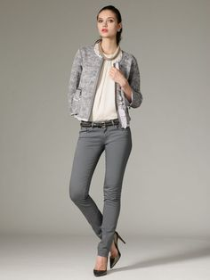 I like this outfit. Straight Leg Jean by RED Valentino   on Gilt