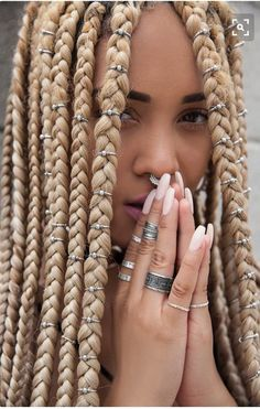 43 Cool Blonde Box Braids Hairstyles to Try - Hairstyles Trends Box Braids Hairstyles, Fancy Hairstyles, African Hairstyles, Protective Hairstyles, Black Hairstyles, Protective Styles, Hairstyle Braid, Dreadlock Hairstyles, Hairstyles 2018
