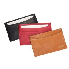 Personalized Traditional Leather Card Cases