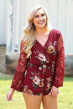 2317fb0d0e79 Love this floral romper from Southern Fried Chic Country Girl Style