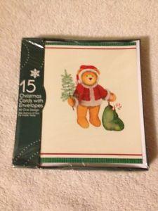 15 Ct. Christmas Cards: Christmas Bear (New)