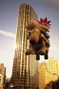 Everyone's favorite tykes take to the sky — The Rugrats in Macy's Thanksgiving Day Parade