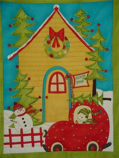 Christmas in the North Pole Wall Hanging Quilt by SweetPeasGarden