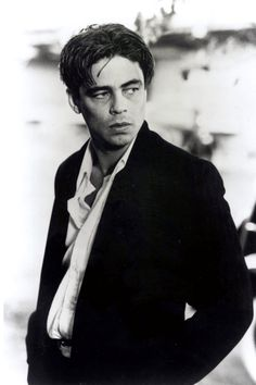 Benicio Del Toro.  Isn't he ever so slightly scary? And isn't that absolutely delicious?