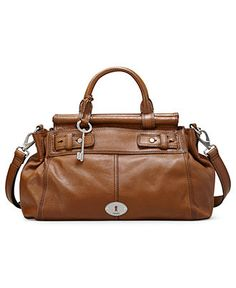 Fossil Handbag Maddox Leather Bar Satchel Handbags Accessories Macy S