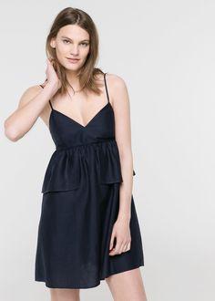 Ruffled strap dress