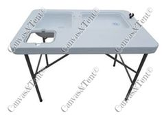 HDPE Prep Table Features: Open size: 100 x 65 x 82cm 4.5cm HDPE Thickness  Tube size 25mm/.1  Packed Weight: 10KG  Packed Dim: 102X65X12cm