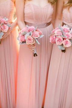 vestido madrinhas rosa quartz - Pesquisa Google