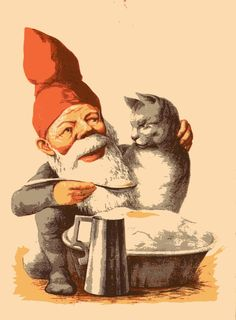 Nisse og julegrøt og katten = Norwegian Nisse and Christmas porridge and cat