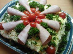 Kinkku voileipäkakku - Kotikokki.net - reseptit Red Peppers