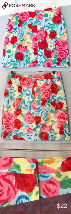0f2b75f3debc53 Talbots Stretch Cotton Floral Pencil Skirt Sz 6 Talbots Stretch Cotton  Floral Pencil Skirt Sz 6