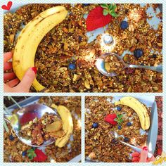Crunchy, chewy - delicious enough for dessert but healthy enough for breakfast! Gluten free, vegan, paleo and scrumptious homemade granola!