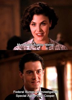 Twin Peaks. Dale Cooper and Audrey Horne - hope David Lynch gives the fans what we've been waiting for!