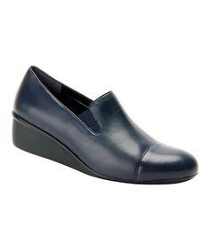 Navy Ellis Leather Loafer