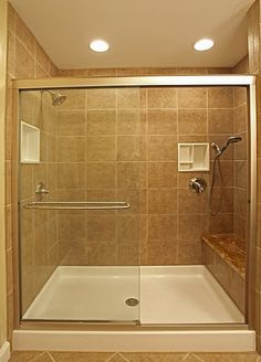 Tiled Bathrooms Designs tile-bathroom-design-with-glass-shower-door-and-tub-to-shower