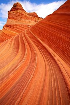 In Arizona, you can find a stunning sandstone rock formation called The Wave.