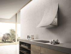 Wall-mounted steel cooker hood NUAGE by Elica design Fabrizio Crisà