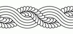 Caroline Feather Cable Border - Click Image to Close Sashiko Embroidery, Embroidery Stitches, Embroidery Patterns, Quilt Patterns, Machine Embroidery, Quilting Stencils, Longarm Quilting, Quilting Designs, Border Pattern