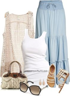 35 Pretty Maxi Skirt Outfits Polyvore Combinations This Summer - Be Modish - Be Modish