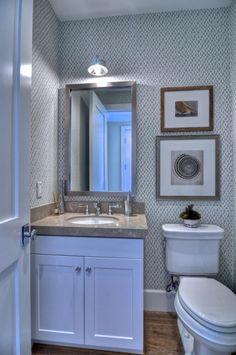 Gorgeous cloakroom toilet decor.