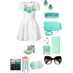 Church Day by agarcia2060 on Polyvore featuring polyvore, fashion, style, Alexander McQueen, Shoes Galore, BCBGMAXAZRIA, Talbots, Kate Spade, Louche, Prada, Wet n Wild, Eos and Topshop