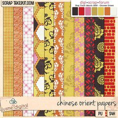 Chinese Orient paper pack freebie from JusmeDigital