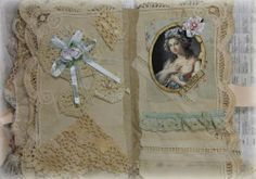 VINTAGE LOVE COLLAGE BOOKE PREMADE SCRAPBOOK ALBUM MOTHER'S DAY ELITE4U KHATSART http://www.ebay.com/sch/merchant/khatsart47