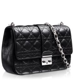 Black leather 'Miss Dior' bag