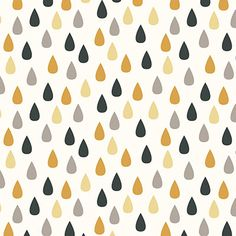 Plume in Yellow, Large - Owl Grove Collection by Liz Ablashi for Modern Yardage