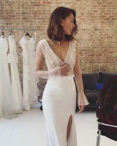 The Most Incredibly Beautiful Wedding Dresses - Fab Wedding Dress, Wedding dress. - - The Most Incredibly Beautiful Wedding Dresses – Fab Wedding Dress, Wedding dresses ,Bridesmaid dresses,wedding gown Source by xelarami Civil Wedding Dresses, Wedding Dress Trends, Dream Wedding Dresses, Sleek Wedding Dress, Elegant Wedding, Wedding Ideas, Silk Wedding Gowns, Wedding Dresses For Petite, Wedding Dresses Berta
