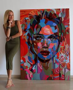 588 Likes, 17 Comments - NOEMI SAFIR Abstract Portrait Painting, Art Painting, Art Drawings, Painting, Art, Canvas Art, Modern Art Abstract, Portrait Art, Pop Art