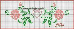 Cross Stitch Letters, Cross Stitch Cards, Cross Stitch Borders, Cross Stitching, Filet Crochet, Loom Beading, Flower Art, Stitch Patterns, Bullet Journal