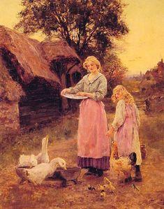 Lilian Yeend-King (Lilian Yeend King), Feeding the Ducks