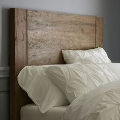 simple wood headboard by guida