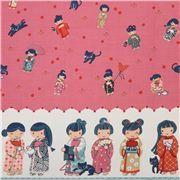 pink kimono geisha Asia fabric by Alexander Henry USA