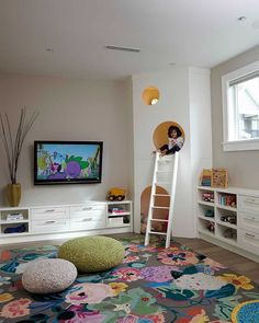Красочные изюминки: идеи для 25 детских комнат с красивыми коврами