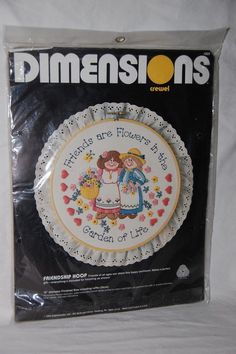 Dimensions Crewel Embroidery Friends are Flowers in the Garden of Life 1303 #DimensionsCrewel