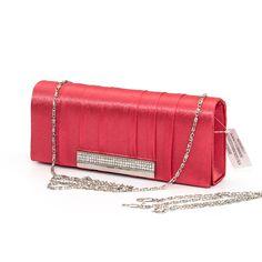 Červená večerná kabelka
