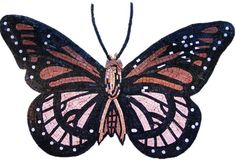 Multihued Butterfly Mosaic Mural Handmade Art . MA115 by Mozaico on Etsy https://www.etsy.com/listing/238065131/multihued-butterfly-mosaic-mural