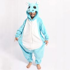 Kids Kigurumi Animal Onesies - Hippo - Shipping Cap Promotion- - TopBuy.com.au