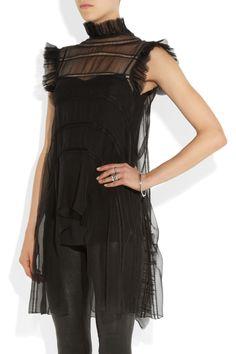 Alberta Ferretti|Ruffled silk-chiffon top. Shop the Fairy-tale issue of The Edit magazine.