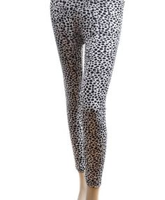 """New Lady's Cotton Leggings Black and White JS0740 - Large L/XL 5'1""""-5'10"""" height Dapper World. $9.98"""