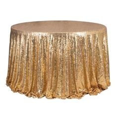 Home Round Sparkle Sequin Tablecloth, Sequin Table Overlay Wedding Party Banquet Table Decor, Gold 50th Wedding Anniversary Decorations, 50th Anniversary, Sweet 16 Masquerade, Sequin Tablecloth, Tablecloths, Roaring 20s Party, Table Overlays, Banquet Tables, Party Cakes
