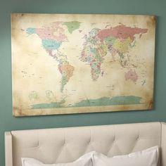 East Urban Home 'World Cities Map' Graphic Art Print & Reviews | Wayfair.ca