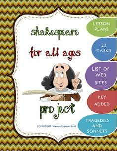 Shakespeare For All Ages Project (Lesson plans- 22 tasks-