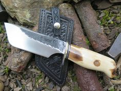 Artifact Fossil Walrus Ivory Fire-Bowl Modified Tanto