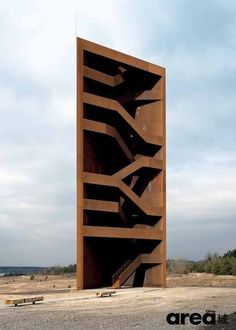 """Become a """"regional coordinates"""" of the project's purpose. The sculpture is located in the scenic camel Sornoer Channel standard is based on the transmittance of embedded Sedlitz Lake specially designed. Triangle on the floor, both sides of the multi-faceted new buildings. Sculptural staircase with the open side facing the lake plow built, feels like an oversized stone."""